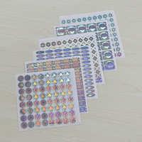 镭射激光防伪标签彩色印刷 全息镭射不干胶二维码 可定制