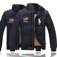 Polo2017新款冬装yrf羽绒服男士加厚短款保罗商务大码欧版外套潮