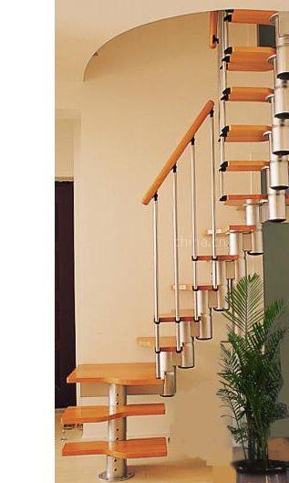 霸州兴达楼梯供应缩颈钢木楼梯