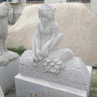 厂家直销加工动物雕塑 十二生肖动物雕刻石雕猴子景观园林摆件