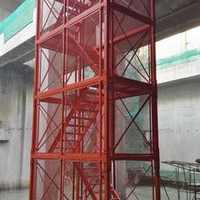基坑梯笼 高铁施工安全梯笼 组合框架式安全防护网梯笼