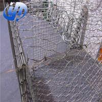 低碳石笼网电焊石笼网  勾花石笼网防洪抗冲刷石笼网 厂家批发