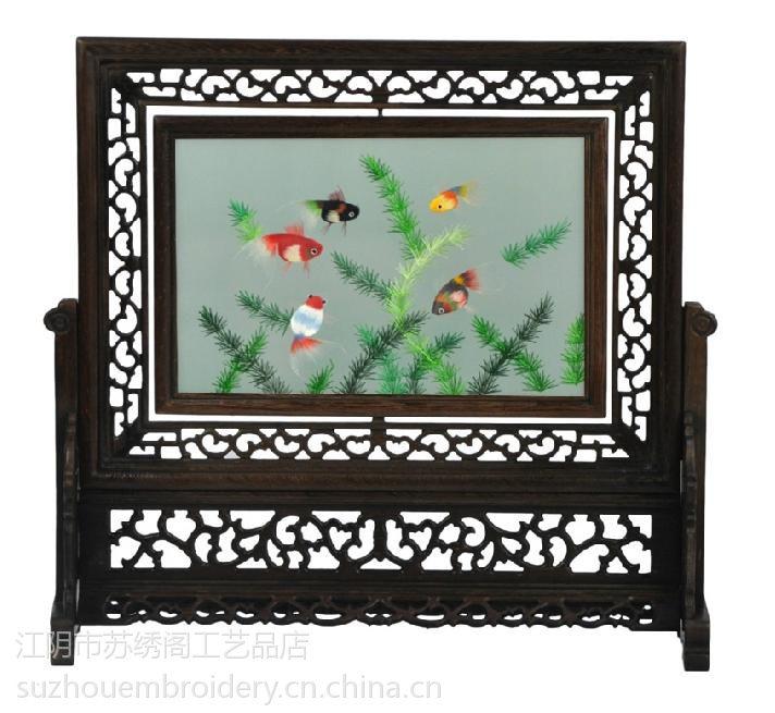 供应Double-sided silk embroidery screen home decor