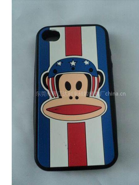 供应大嘴猴硅胶手机套,各种卡通人物,苹果手机配件