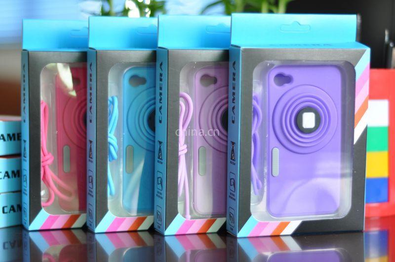 供应iphone4S相机硅胶手机保护壳