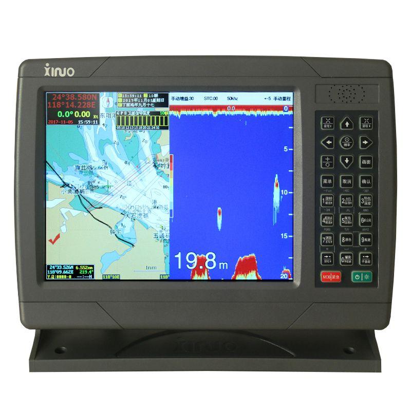 船用新诺GPS卫星导航仪 海图机 鱼探仪 三合一多功能 XF-1069GF
