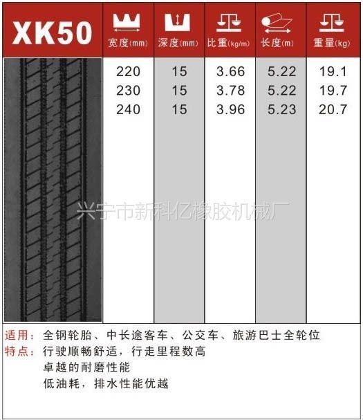 供应轮胎翻新用胎面胶-XK50