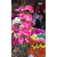 清明节各类拉花 摇钱树 铁丝花 每年新款式不一样 广福缘花厂
