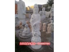 石雕观音像 汉白玉观音菩萨 观音雕像