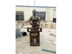 玻璃钢卖臭豆腐人物雕像农耕劳动主题雕塑户外仿真摆件