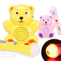 新品灯光音乐麦克风 小熊麦克风玩具 儿童益智卡通音乐话筒玩具
