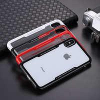 新款iphonex手机壳 仿钢化玻璃防摔软边iphone6套苹果x透明保护套