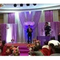 婚庆背景纱幔新款婚礼舞台紫色纱幔婚庆用品厂家直销可定制