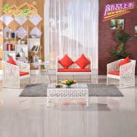 客厅休闲仿藤沙发茶几组合 沙发批 藤椅厂家直销 KTV沙发