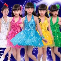 六一儿童演出服幼儿舞蹈少儿亮片纱裙女童幼儿园儿童节表演裙服装