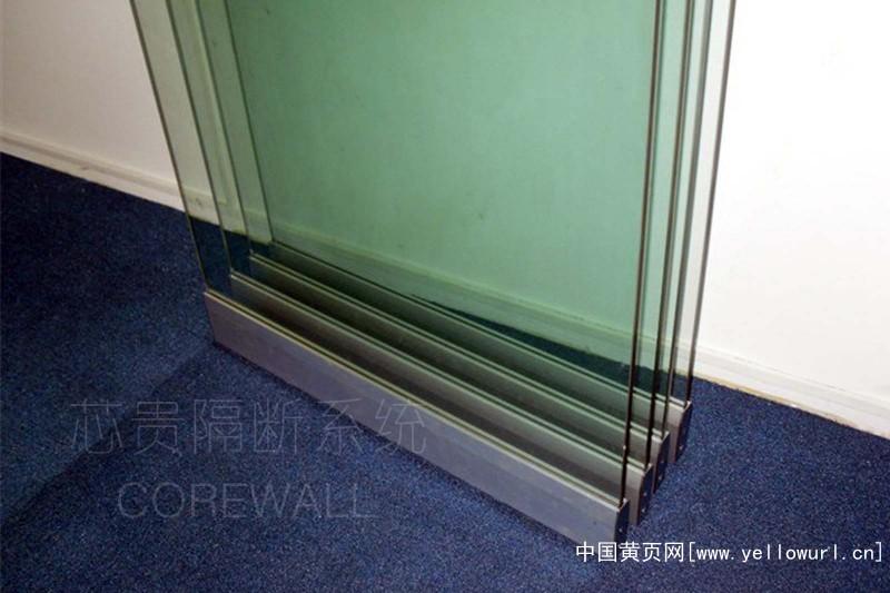 会议室透明玻璃活动隔断1 (4)