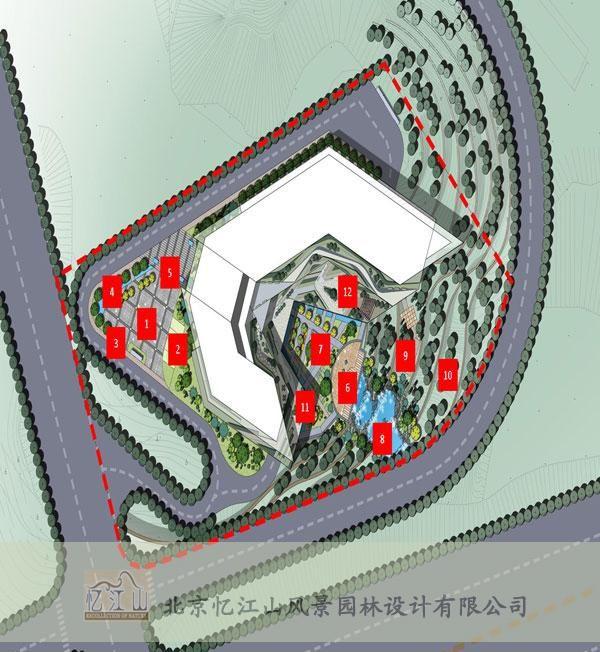 供应紫光华宇办公楼景观设计