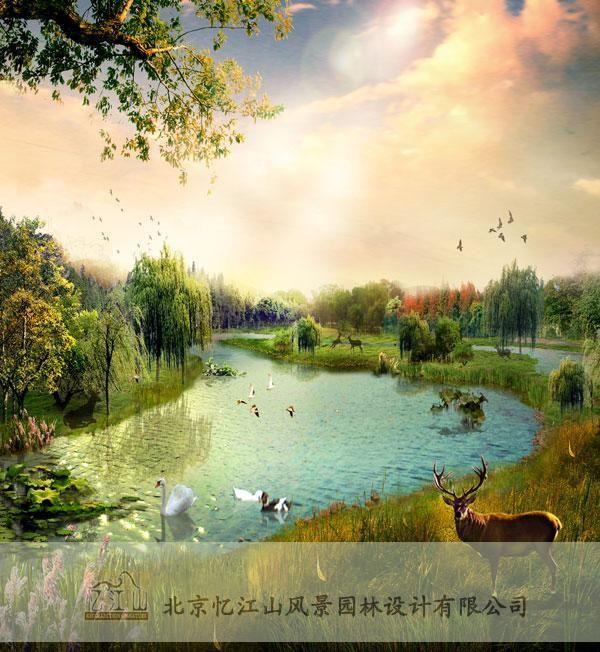 供应北京麋鹿苑园区景观设计