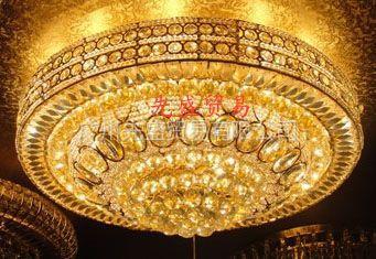 供应水晶灯、装饰莲花圆形灯、水晶吸顶灯、led水晶灯