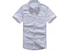 立领时尚修身男装衬衣量身定做 上海衬衫厂家 翻领长袖衬衣