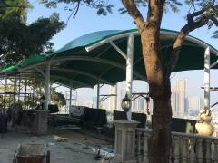 绿色长廊景观张拉膜结构工程 (4)