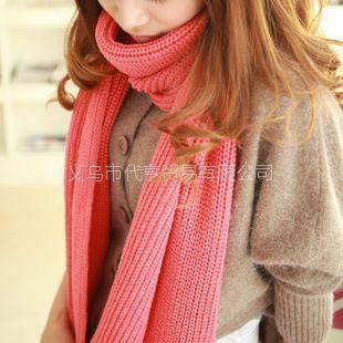 供应2012韩国冬新款围脖加厚超长女士披肩韩版保暖百搭毛线围巾