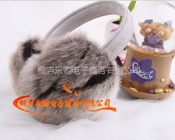 供应批发外贸仿真兔毛皮毛一体毛绒耳套耳罩耳包耳捂耳暖护耳