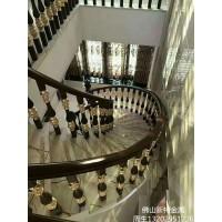 上海铝艺楼梯护栏订做厂家 铝楼梯制作方法