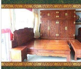 供应明清红木家具正宗国标类红木红木床缅甸花梨床衣柜大果紫檀