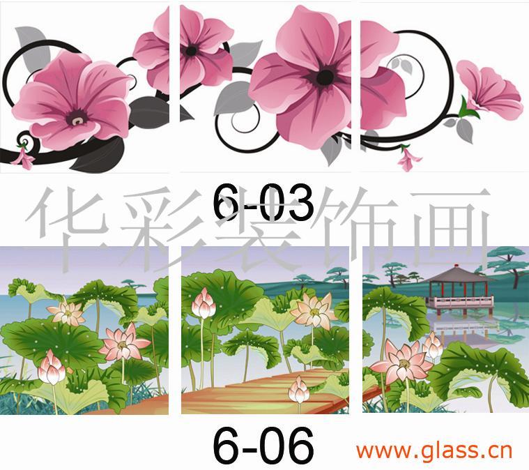 供华彩装饰画玻璃