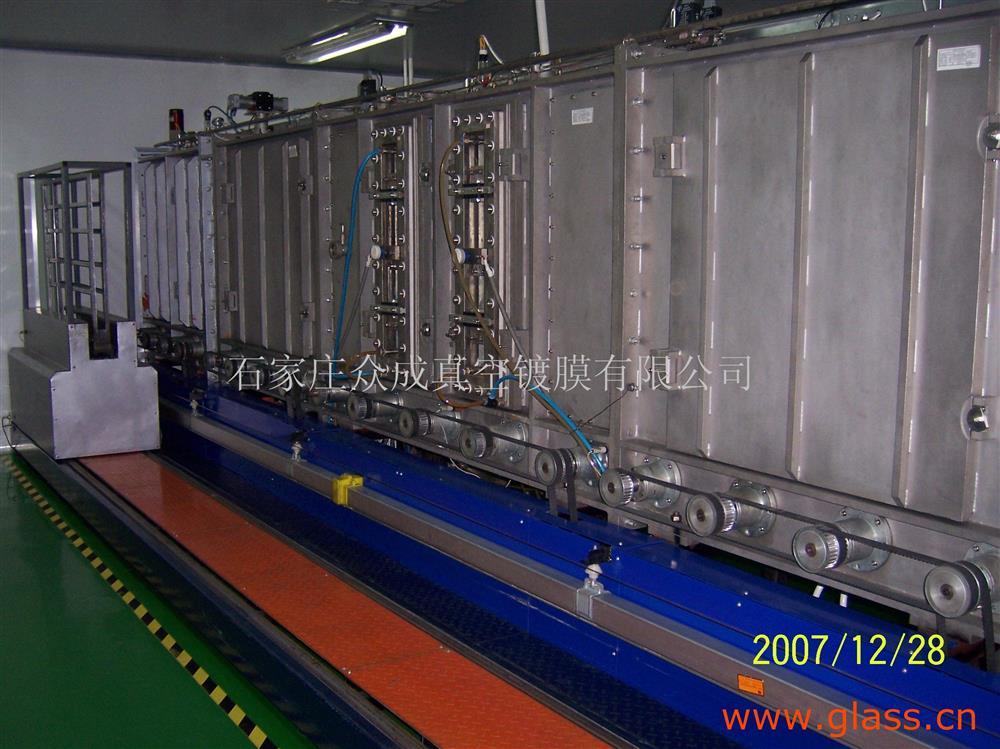 二手磁控溅射立式连续镀膜玻璃生产线