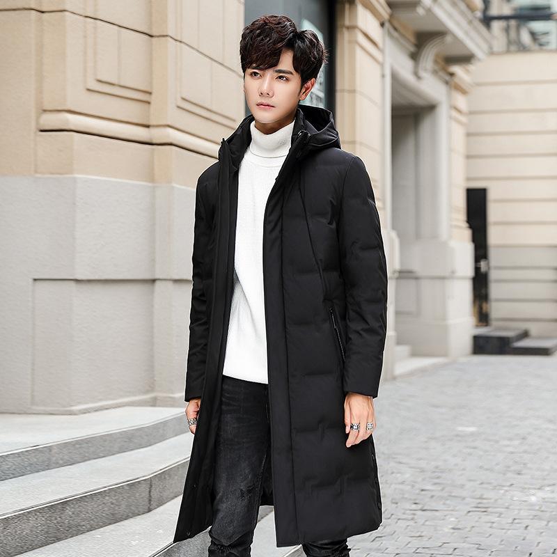 新款冬装长款羽绒服男过膝加厚保暖爸爸装中老年外套厂家批发