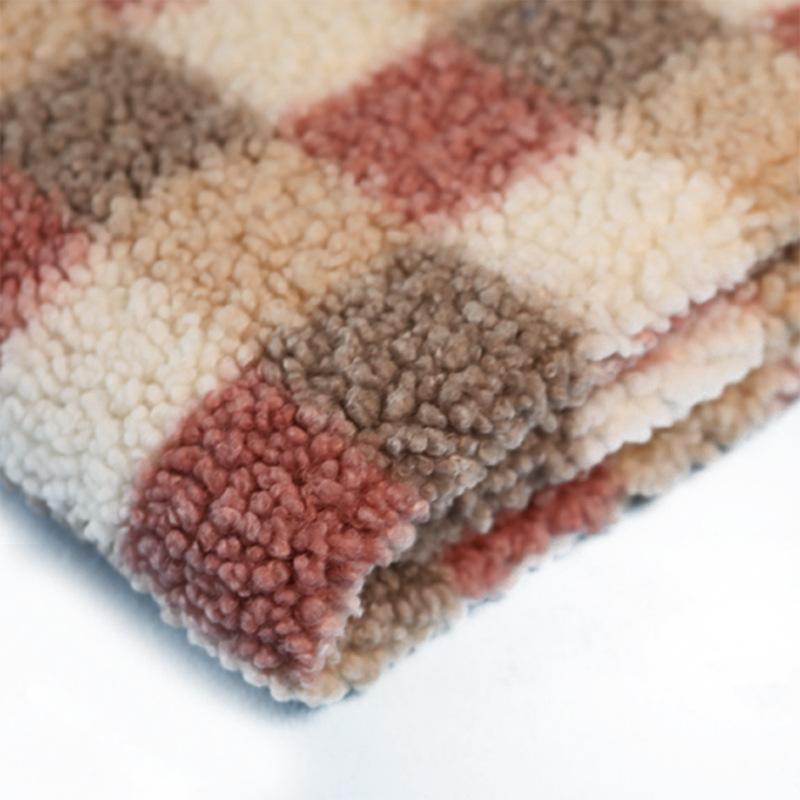 羊羔绒工厂针织颗粒羊绒秋冬加厚复合里布舒棉绒针织毛绒女装面料