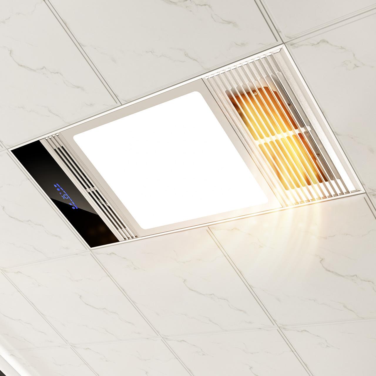 雷士浴霸排氣扇照明一體風暖衛生間集成吊頂三合一浴室嵌入暖風機