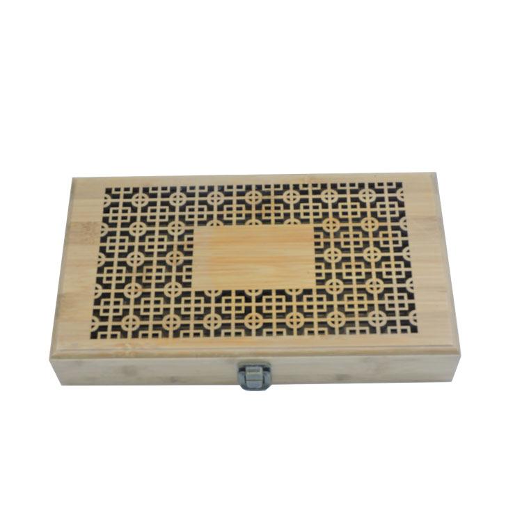 竹质包装盒竹制镂空盒子木质包装盒竹木礼品盒实木香盒定做