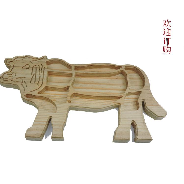 木质托盘餐厅牛腩收纳盘木制牛型盘子酒店托盘实木托盘定做