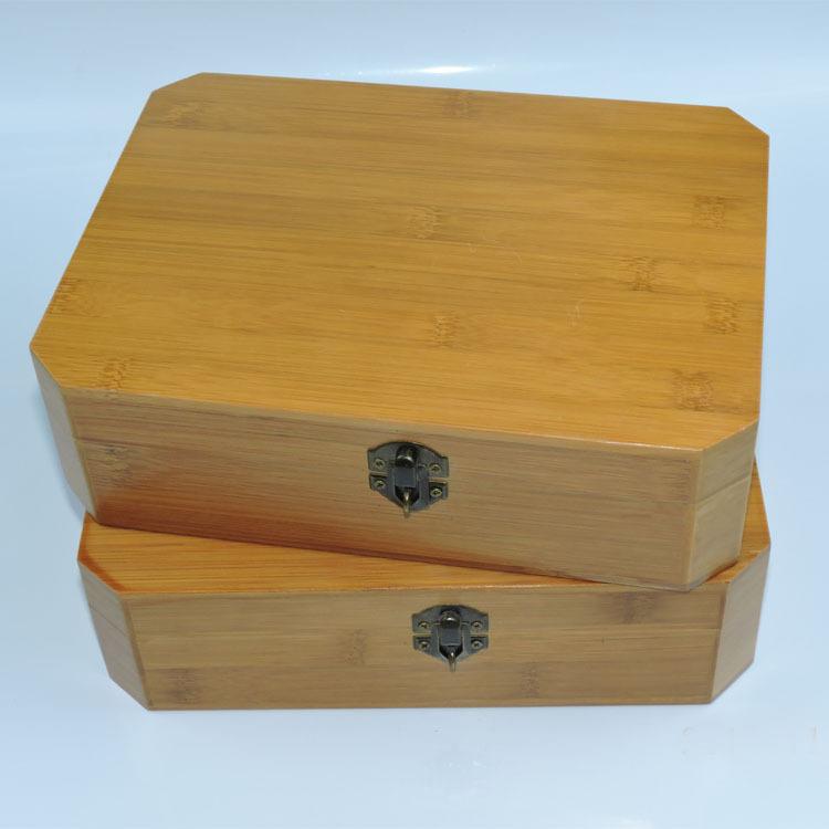 竹木收纳盒八角竹盒实木盒子普洱散茶包装盒竹制礼品盒定做