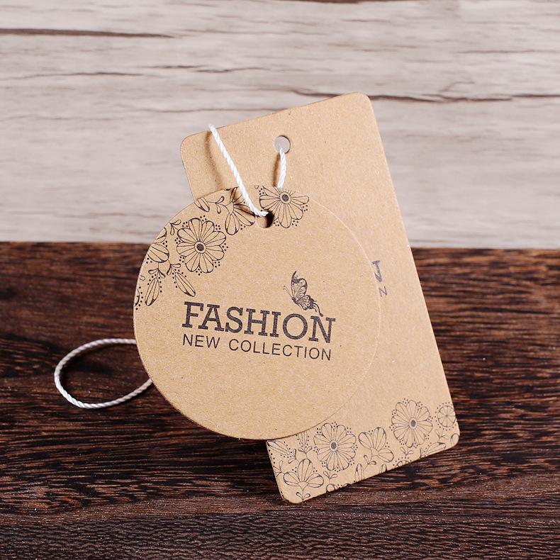 牛皮纸吊牌定做男装女装标签童装内衣订做衣服吊牌定制免费设计