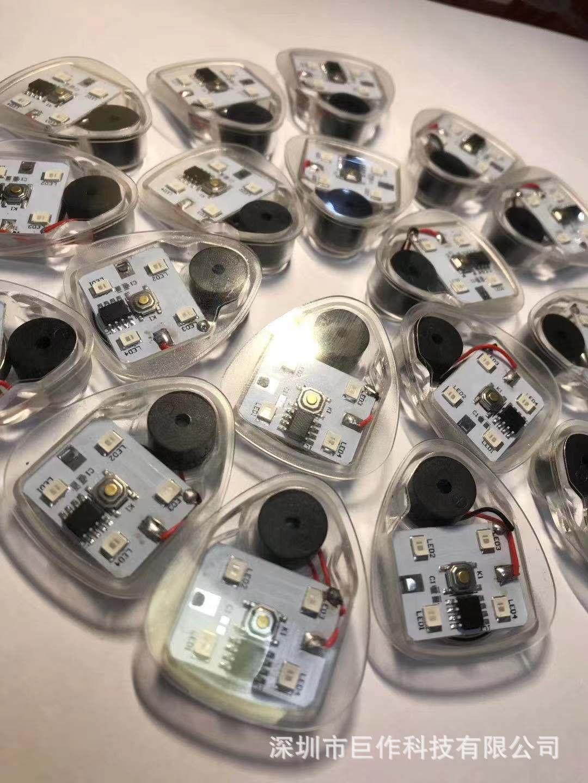 厂家供应LED防水闪光按键音乐鞋灯衣服灯发光机芯电子玩具灯配