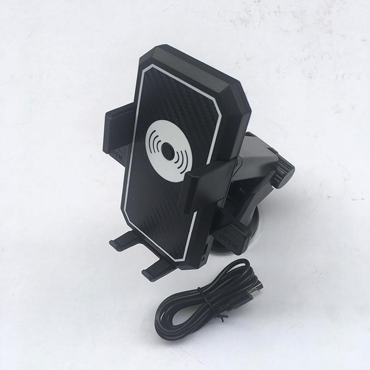 新款吸盘自动锁无线充电车载手机支架汽车出风口导航懒人支架
