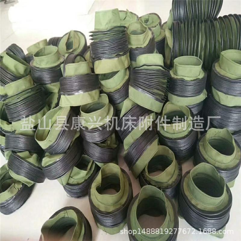 圓筒伸縮式絲杠防護罩帆布拉鏈式油缸防護罩防油防水絲桿防塵罩
