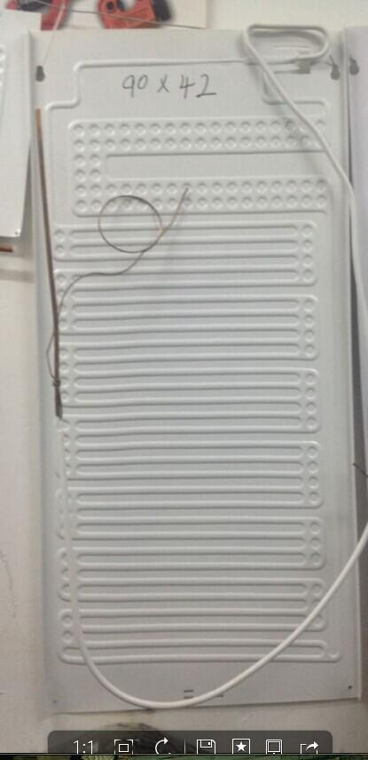 一手貨源吹脹式蒸發器90X42CM帶毛細管制冷板冰箱冰蒸發板