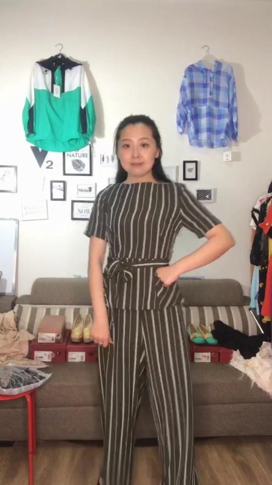 直播清仓时尚雪纺两件套女式阔腿裤套装清仓货品不退不换