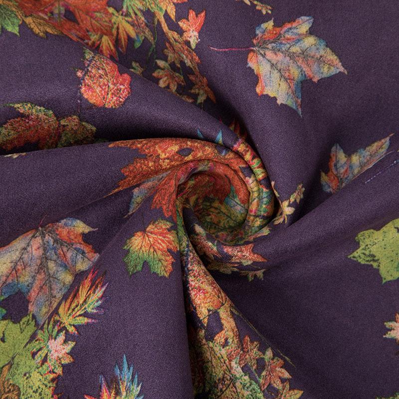 麂皮绒印花涤纶化纤服装面料秋冬时尚染色面料多色可选现货批发