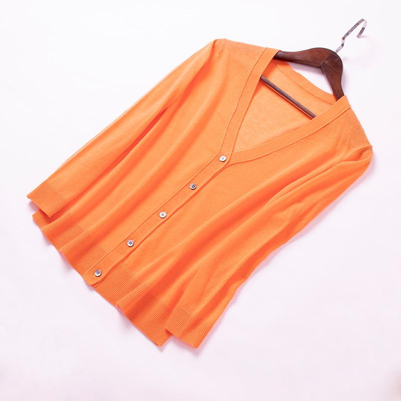 2019新款女装夏季针织开衫女外套防晒衣冰丝针织衫韩版空调衫