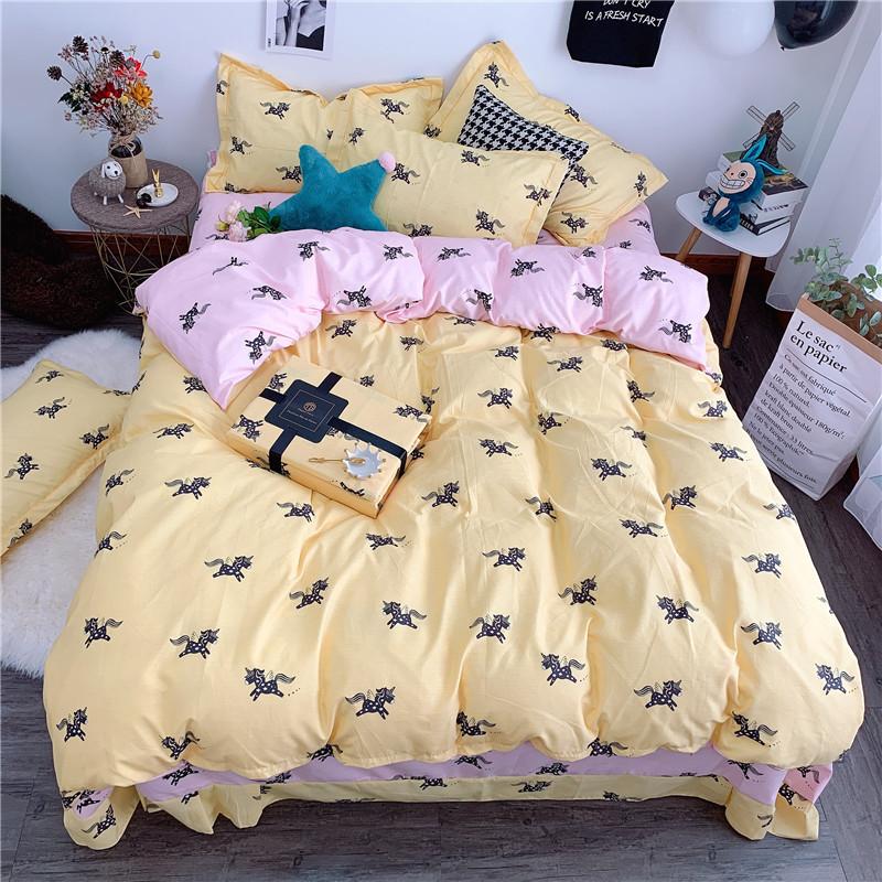 特价直销新款加厚植物羊绒印花韩版床上用品磨毛四件套一件代发