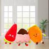 軟體水果系列抱枕草莓蘿卜西瓜靠墊羽絨棉軟體公仔圣誕禮物批發