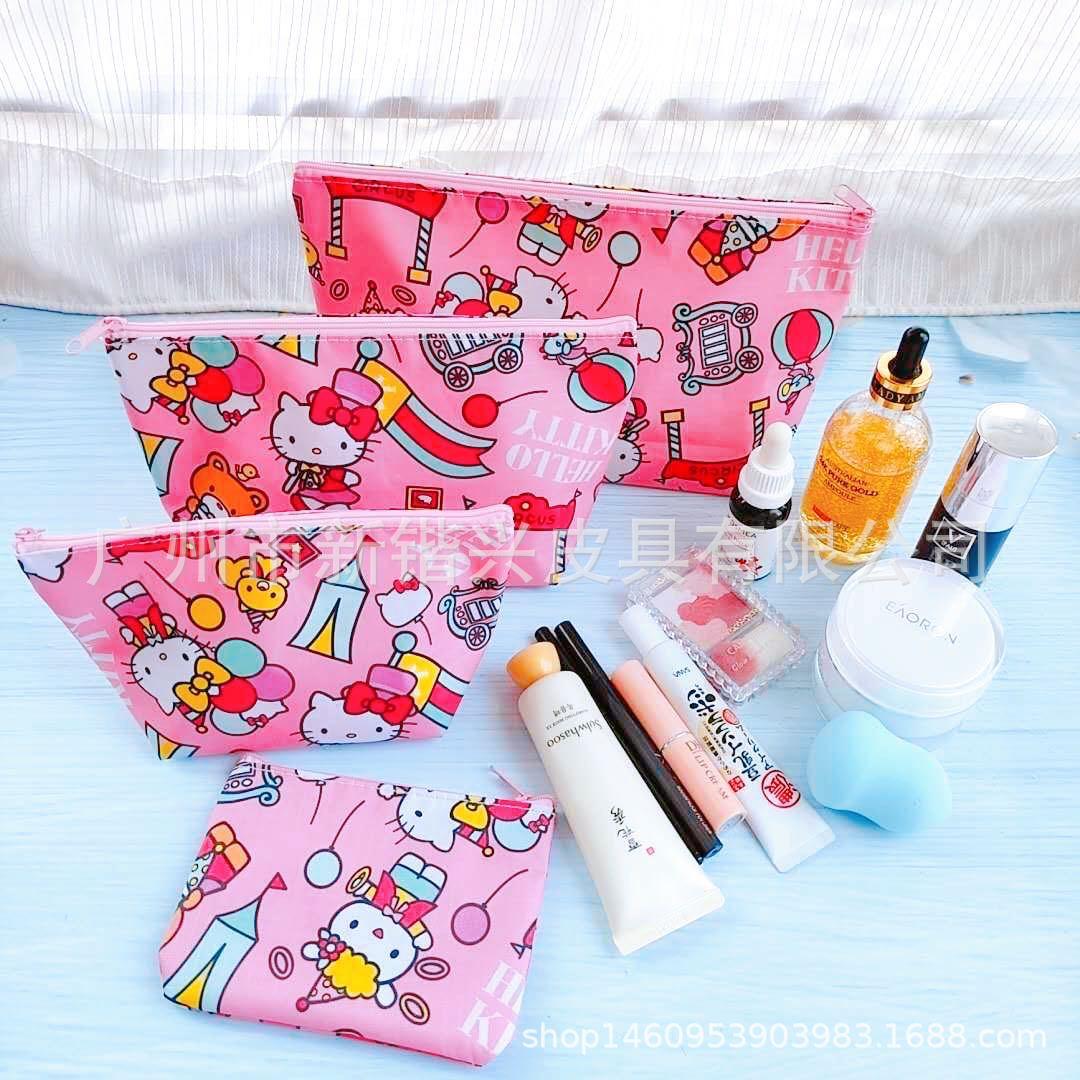 新款卡通美乐贝克鸭kt防水化妆包4件套护肤品化妆品旅行收纳袋
