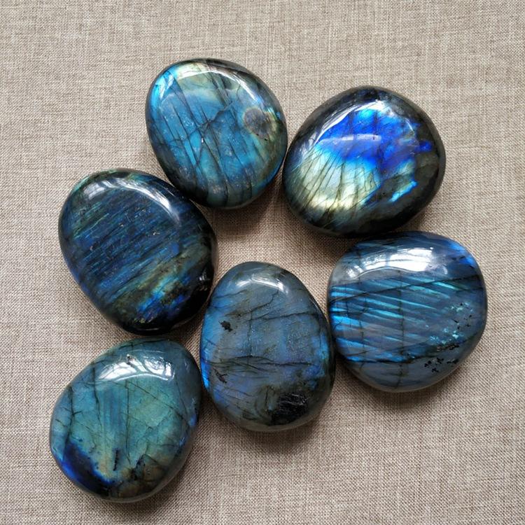 天然拉长石原石把玩小号月光石裸石摆件手把件矿石标本鱼缸造景石