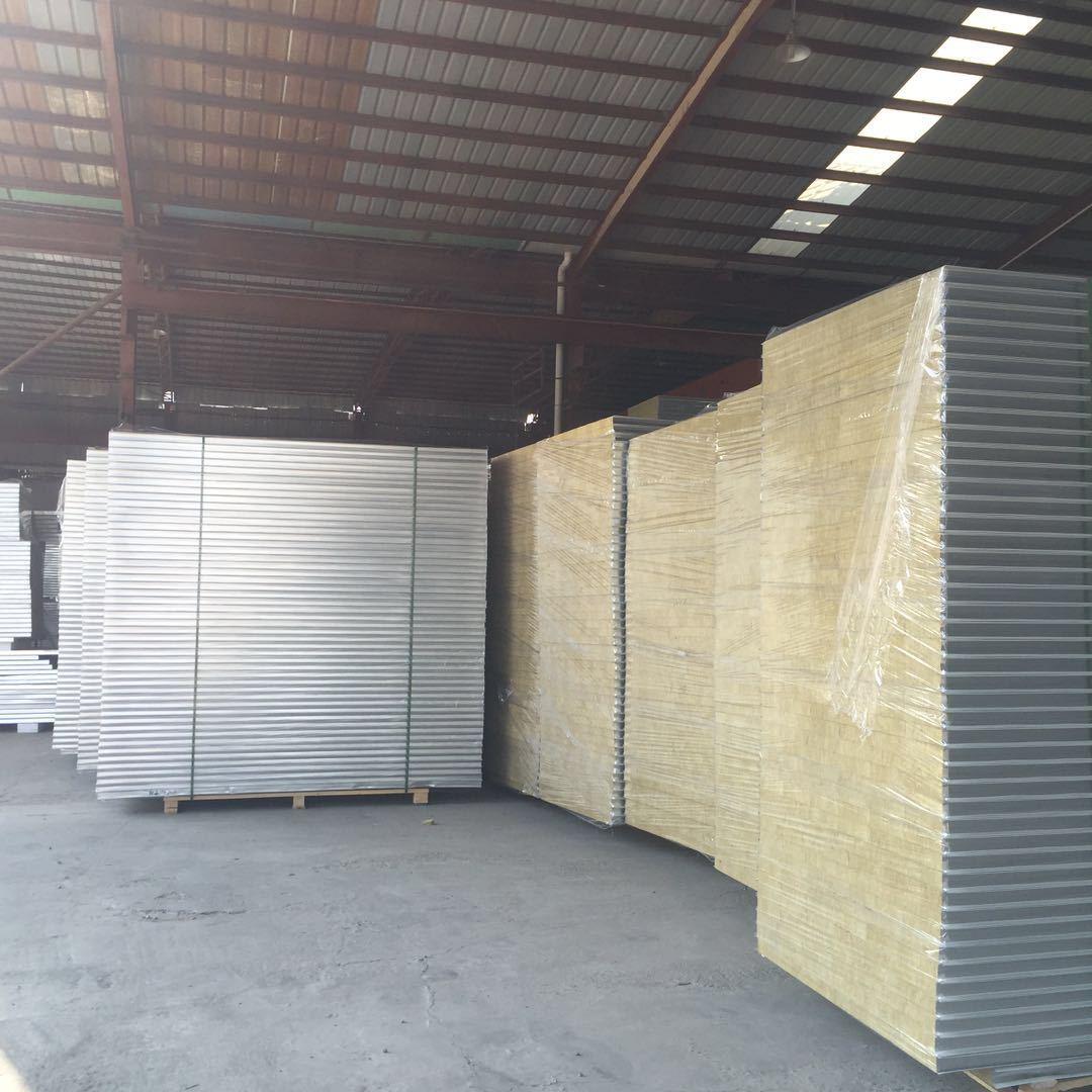 岩棉彩钢板厂家直销防火板隔墙板保温防火板A级防火消防版